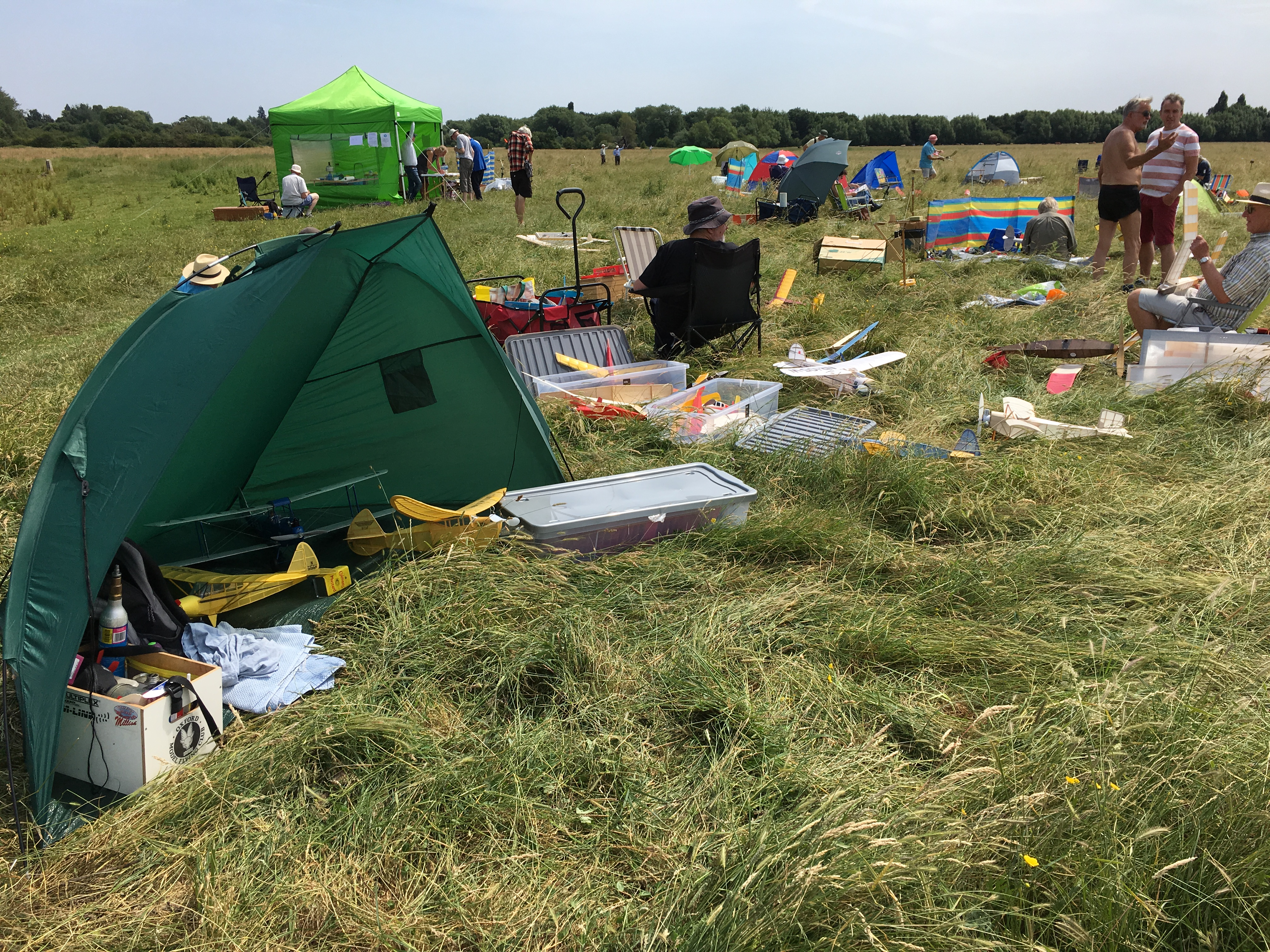 The assembled 'camp' for the Dreaming Spires FF competition